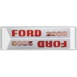 23 Stickerset met opschrift FORD 2000