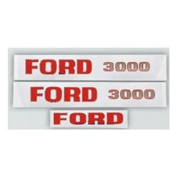 24 Stickerset met opschrift FORD 3000