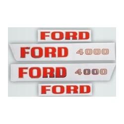 27 Stickerset met opschrift FORD 4000