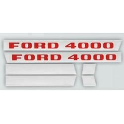 28 Stickerset met opschrift FORD 4000