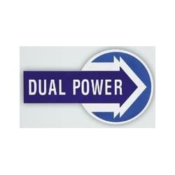 29 Sticker met opschrift DUAL POWER