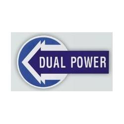 30 Sticker met opschrift DUAL POWER