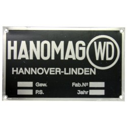 01 Typeplaatje voor Hanomag WD