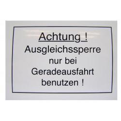 01 Achtung! Ausgleichssperre kleur wit