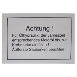 05 Achtung! voor Ölhydraulik kleur wit