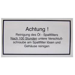 09 Achtung! Reinigung des Öl.. kleur wit