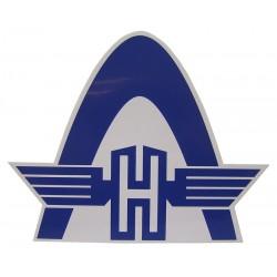 12 Sticker voor panzitting kleur blauw met wit
