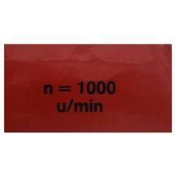 18 Sticker Aftakastoerental 1000 u/min