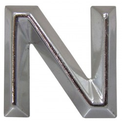 10 Embleem Letter N met een hoogte van 30 mm