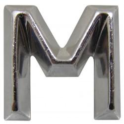 12 Embleem Letter M met een hoogte van 30 mm