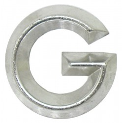 13 Embleem Letter G met een hoogte van 30 mm