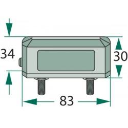 04 Kentekenverlichting opbouw met boutjes 6 mm