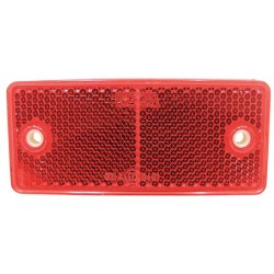03 Reflectoren rechthoekig zelfklevend rood
