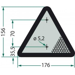 02 Driehoeksreflector met omranding rood