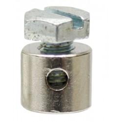 12 Schroefnippel 8 mm dik 15 mm lang Borings Ø 2.3 mm