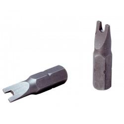 08 Bit plat 10.0 mm per 5 stuks