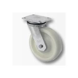 02 Polyamide zwenkwiel met kogellager 125 mm