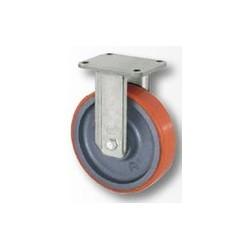 02 Polyurethaan bokwiel met kogellager 125 mm