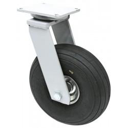 01 Zwenkwiel met luchtband met rollager in wiel 200 mm