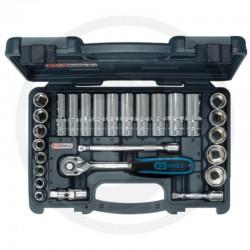 """01 KS Tools 3/8"""" CHROMEplus® Dopsleutelset, 27-Delig."""