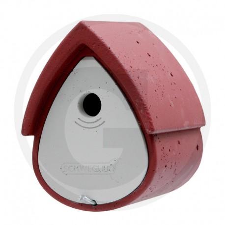 02 Schwegler Vogelhuisje rood / grijs