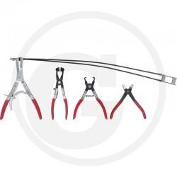 13 KS Tools Slangklem-tangenset automotive,4-delig