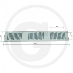 02 Ventilatierooster 1500 x 250 mm rvs