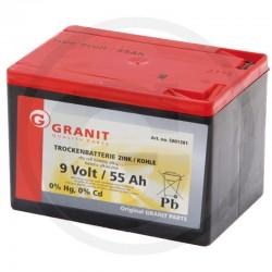 01 Droge batterij 9 Volt hoekig, klein 55 Ah
