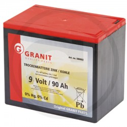 02 Droge batterij 9 Volt hoekig, groot 90 Ah