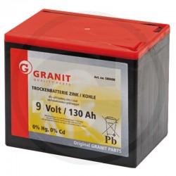 03 Droge batterij 9 Volt hoekig, groot 130 Ah