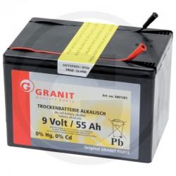 01 Alkaline batterij 9V/55 Ah kleine behuizing
