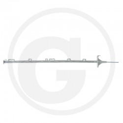 01 Afrasteringspaal kunststof 105 cm
