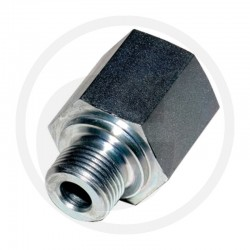 03 Rechte adapter GA 1/8 M BSP x 1/8 F BSP L=18