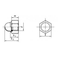 04 Zelfborgende dopmoer M10 per stuk