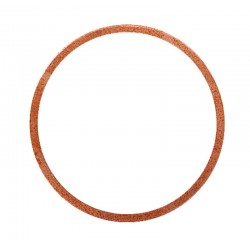 04 Vlakke koper ring 10 x 14 x 1 mm per stuk