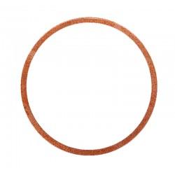 12 Vlakke koper ring 17 x 21 x 1,5 mm per stuk