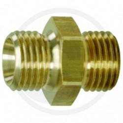 01 Messing Verloopnippel 13x17 mm