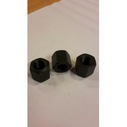 02 moer hoog M14 x 1.5 zwart per stuk