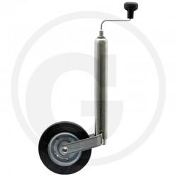 01 Steunwiel rubber wiel met stalen velg