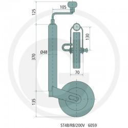 09 Winterhoff Steunwiel met remfunctie