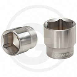 "01 KS Tools 3/8"" CLASSIC Dopsleutel, zeskant, 17 mm"