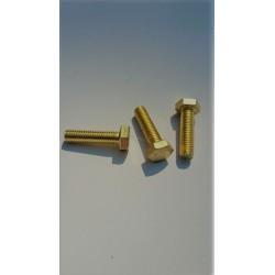 01 Bouten M6 x 10 mm voldraad Messing per stuk