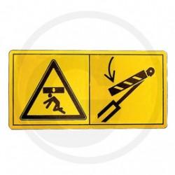 Waarschuwingssymbool gevarenzone