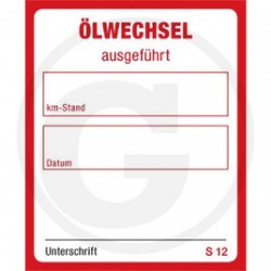 Oliewissel sticker
