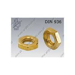 Hex thin nut  M16×1,5-brass   DIN 936