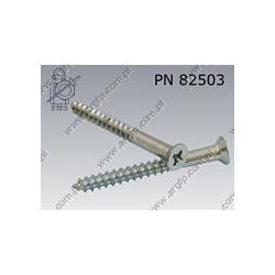 Wkr?t do drewna st.  Pz-K 5×50  zinc plated  PN 82503