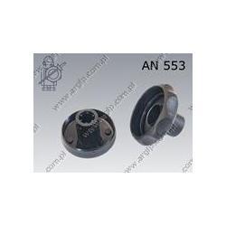 Folding star knob without nut  50-M 8  black  AN 553