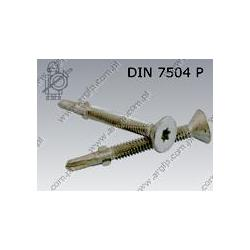 Self drilling screw with wings  Tx 6,3×60/15  fl Zn  DIN 7504 P