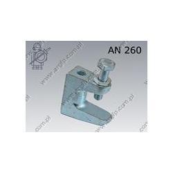 Beam clamp  TKN 8  M 8  zinc plated  AN 260