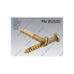 Wkr?t do drewna kul.  R-K 3,5×16-brass   PN 82505